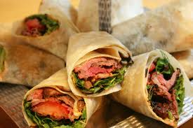 image of corporate catering wraps